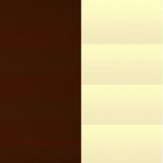 Жалюзи горизонтальные 25 мм алюминиевые цвет коричневый/бежевый 17/18
