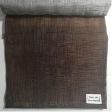 Римские шторы Тюль Лен шоколадный