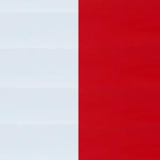 Жалюзи горизонтальные 25 мм алюминиевые цвет красный/белый 475/900