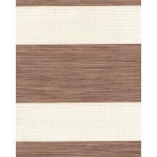 Тканевые ролеты Олимпос зебра цвет коричневый 2090
